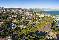 Vue de la Région Lausanne – Épalinges, des hauteurs des Croisettes aux rives d'Ouchy.