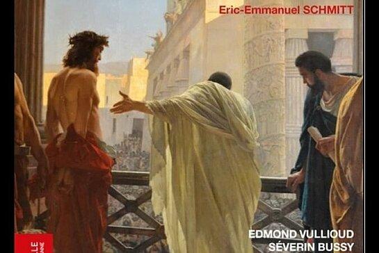 Affiche du spectacle montrant Pilate