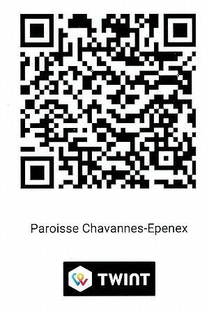 QR-Code permettant de faire un don à la paroisse de Chavannes-Epenex