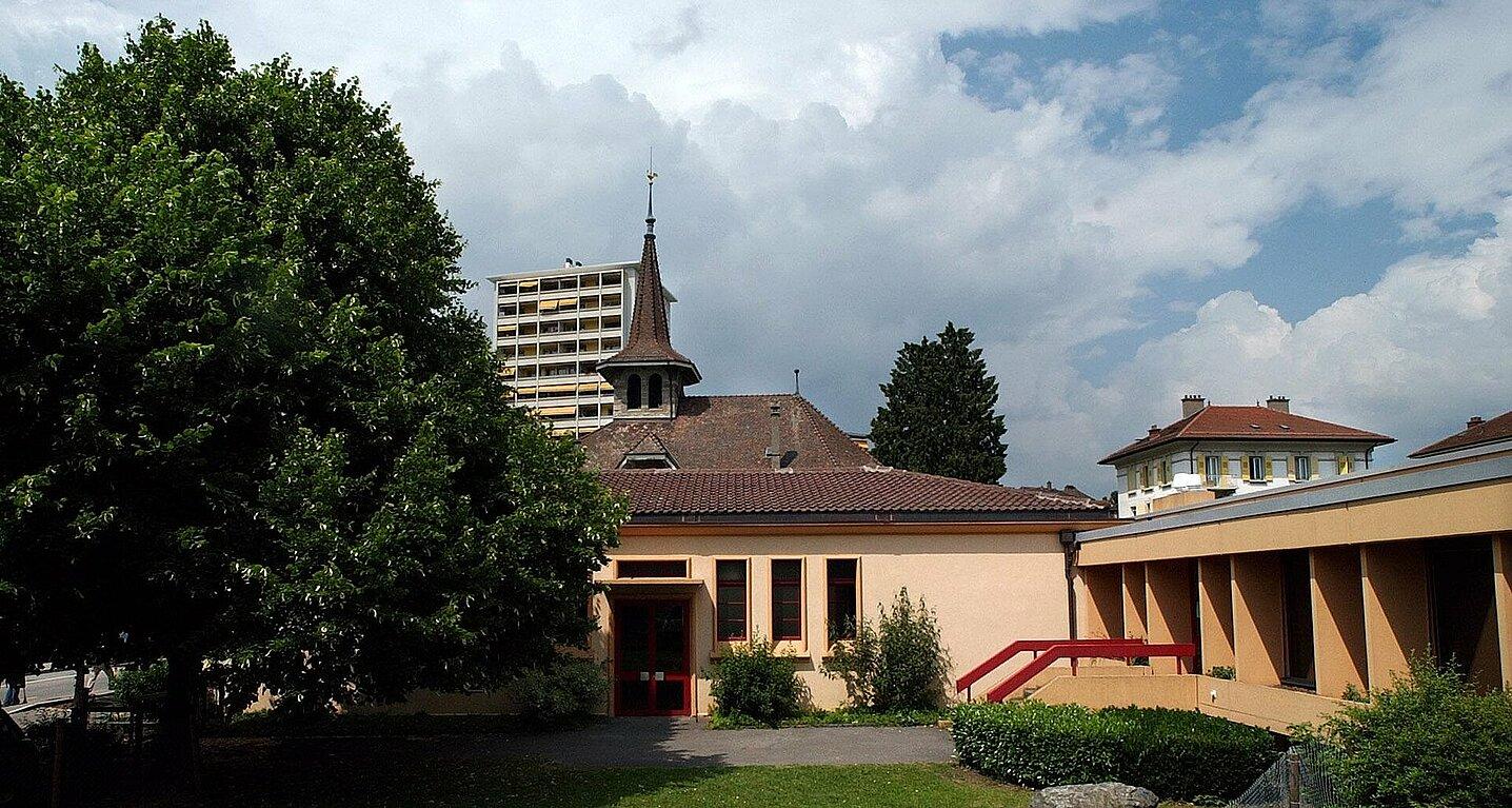 Vue extérieure du centre paroissial de Chavannes-Epenex