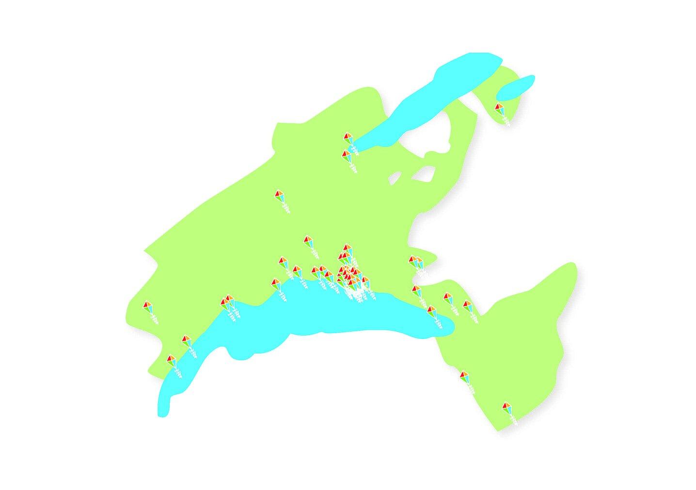 Carte des lieux d'accueil vaudois