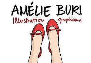 Logo graphiste Amélie Buri